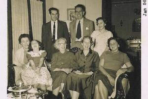 Welty Family Christmas 1955, (front) Mittie, Mary Alice, Chestina, Eudora, Elinor; (back) Walter, Edward, Elizabeth