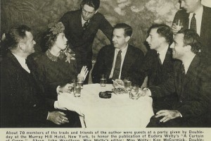 Doubleday publishers honored Welty with a party in New York on the publication of A Curtain of Green in 1941.