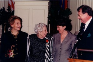 Welty receives the French Legion d'Honneur Medal in 1996 at the Old Capitol Museum in Jackson.