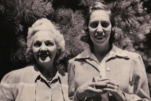 Katherine Anne Porter and Eudora at Yaddo in 1941.