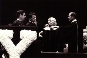 Welty presented the Doctor of Letters degree from Yale University in 1975.
