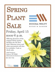 Welty House Plant Sale Flier